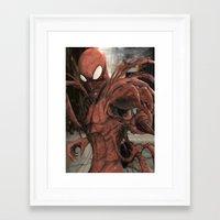 carnage Framed Art Prints featuring Carnage by Nick Fernandez