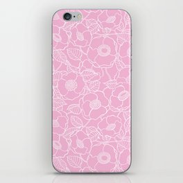Pink rose pattern iPhone Skin