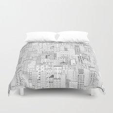 City Doodle (white) Duvet Cover