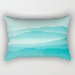 mint sunrise layers Rectangular Pillow