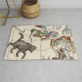 Vintage Star Atlas - Constellation Map Rug
