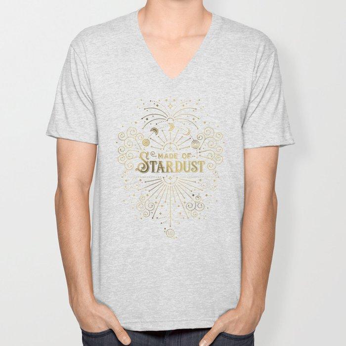 Made of Stardust – Gold Palette Unisex V-Neck