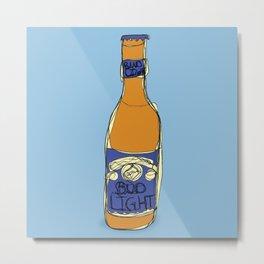 Bud Light Bottle Metal Print