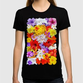Exotic Flowers Colorful Explosion T-shirt