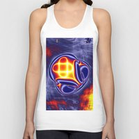 ufo Tank Tops featuring ufo by donphil