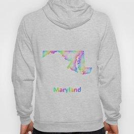 Rainbow Maryland map Hoody