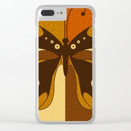 RETRO BUTTERFLY Clear iPhone Case