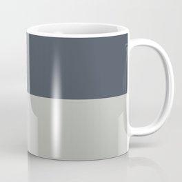 BM 2019 Color of Year Metropolitan AF-690 & Hale Navy Blue Gray HC-154 Horizontal Stripes Blocks Coffee Mug