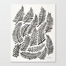 Black Fronds Canvas Print