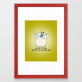THE BIG LEBOWSKI Framed Art Print
