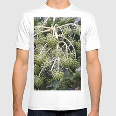 Green Buds Mens Fitted Tee MEDIUM White