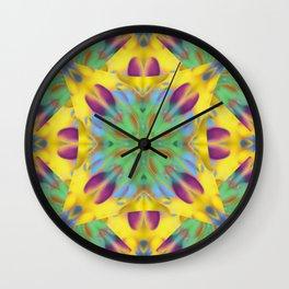Kaleidoscope Bubbles Wall Clock