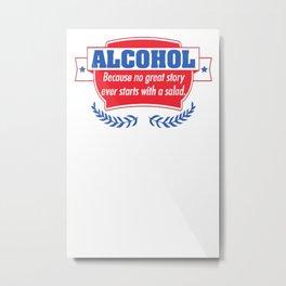 AAlcohol Metal Print