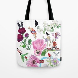 London in Bloom - Flowers and transportation that make London Tote Bag