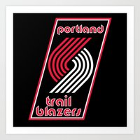 nba Art Prints featuring NBA - Trail Blazers by Katieb1013