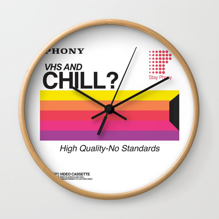 VHS and Chill Wall Clock