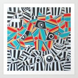One, Two, Many Stripes Art Print