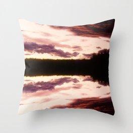 Rorschach's Sunset Throw Pillow