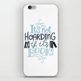 Hoarding Books Blue - Book Nerd iPhone Skin