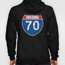 Cool Awesome 1950 Sign for 70th Birthday Hoody
