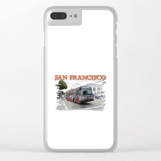 San Francisco Fillmore Street Clear iPhone Case