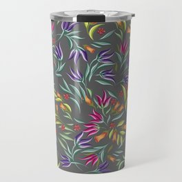 Seamless pattern with different wild flowers Travel Mug