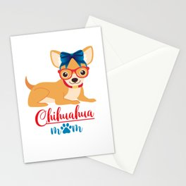 Chihuahua Mom Mother Mommy Mum Dog Lover Design Stationery Cards