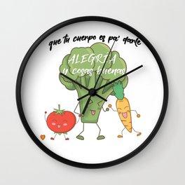 Vegetarian macarena Wall Clock