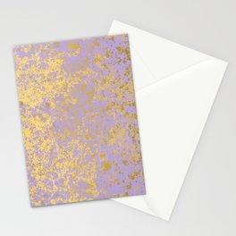 Lavender and Gold Patina Design Stationery Cards