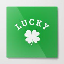 Lucky 4 Leaf Clover Metal Print