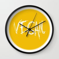 vegan Wall Clocks featuring Vegan. by Love Libby X