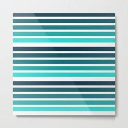 colorful lines blue decorative mininal pattern Metal Print