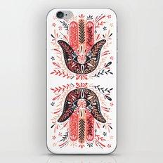 Hamsa Hand – Red & Black Palette iPhone Skin
