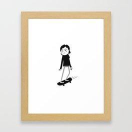 Skater chick_01 Framed Art Print