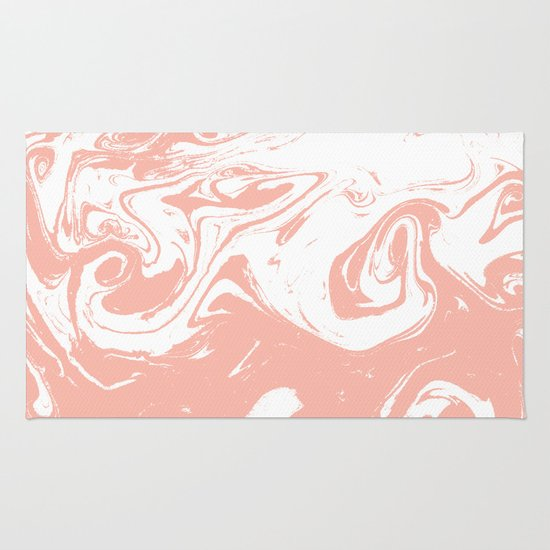 Marble Pink 2 Suminagashi Watercolor Pattern Art Pisces