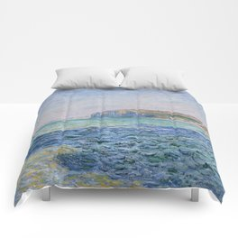 Shadows on the Sea at Pourville by Claude Monet Comforters