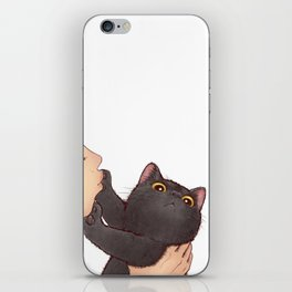 cat : huuh iPhone Skin