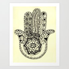Om Hamsa Art Print