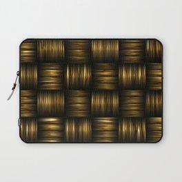 Golden Chocolate Brown Weave Laptop Sleeve