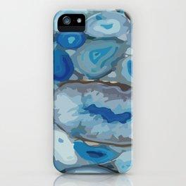 Ivanna Gogh blue quartz geodes surplus iPhone Case
