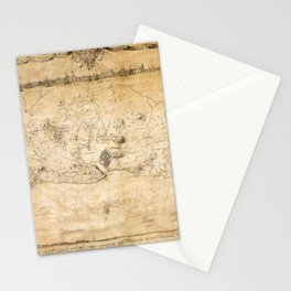 Plan of the Siege of the Havana Surrender (Aug. 12, 1762) Stationery Cards