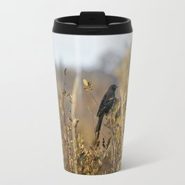 Blackbird in Autumn Light Travel Mug