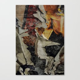Peeling: Blonde Woman Canvas Print