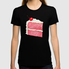 Cherry Cake Pattern - Pink T-shirt