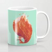 kitsune Mugs featuring Kitsune (Fox of fire) by Picomodi
