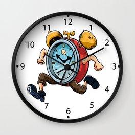 Clock Man Running Wall Clock