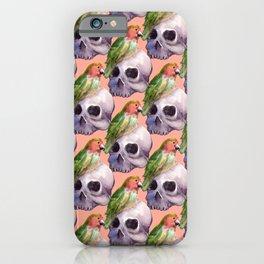 skull lovebird iPhone Case