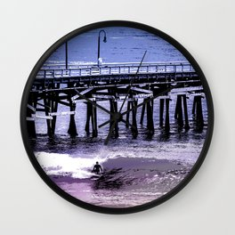 PASTEL PIER Wall Clock