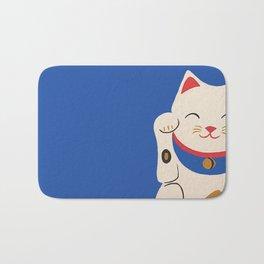 Blue Lucky Cat Maneki Neko Bath Mat