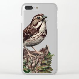Song Sparrow Clear iPhone Case
